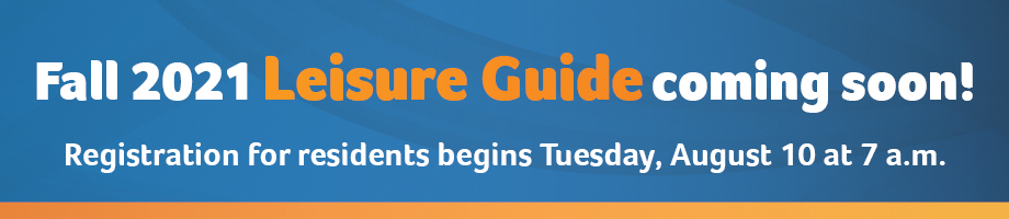 Fall 2021 Leisure Guide Promotion